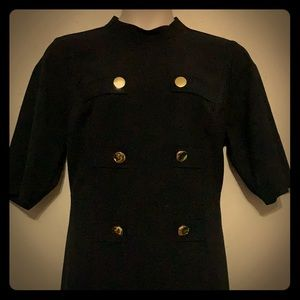 Eloquii Black Military Inspired Dress 18